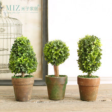 Load image into Gallery viewer, Set of 3 Mini Desktop Artificial Potted Plant