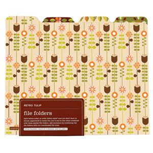 Retro Tulip File Folders