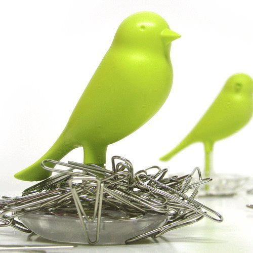 Sparrow Magnetic Paperclip Holder