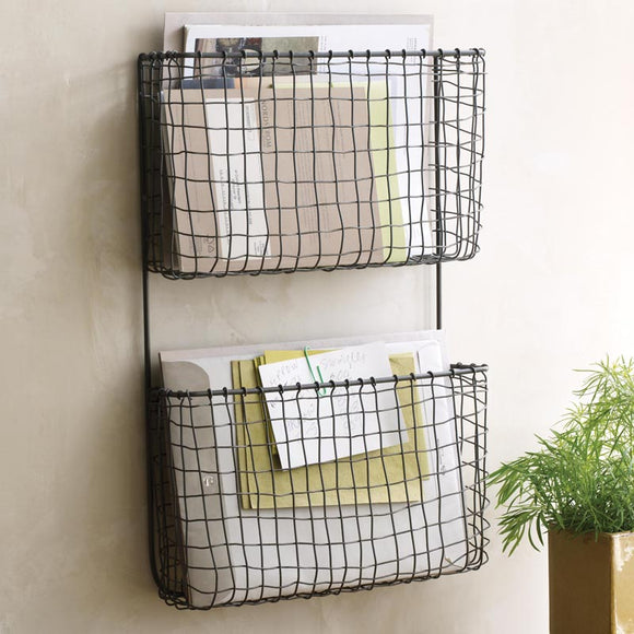 Vintage Wall Organizer File Storage