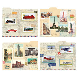 World Travel Map Folders
