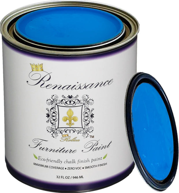 Renaissance Furniture Paint - Chalk Finish Paint - Egyptian Blue