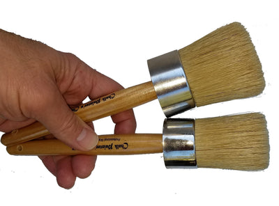 Professional Wax Brush - Natural Bristled Chalk Painter's Choice by Renaissance - Crystaline Your Life