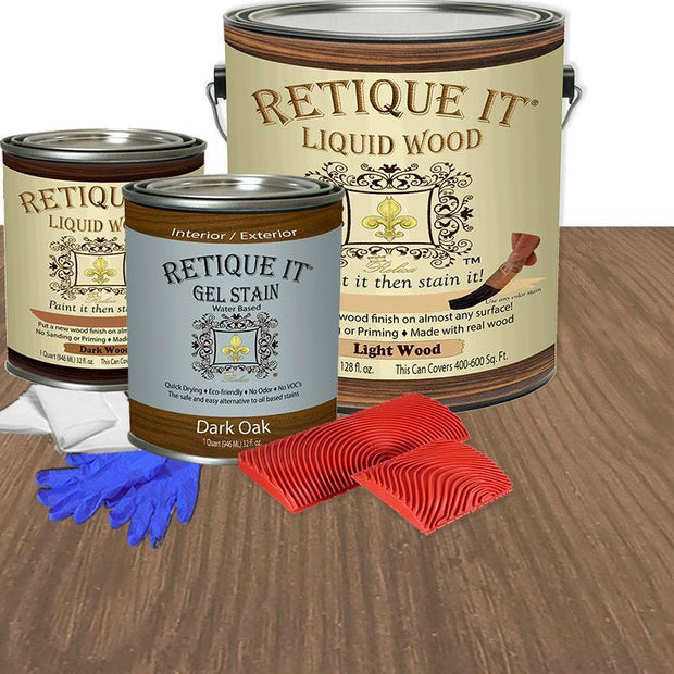 Liquid Wood Kit - Dark Oak
