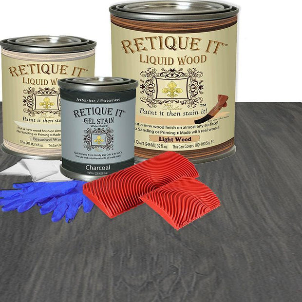 Liquid Wood Kit - Charcoal - Crystaline Your Life
