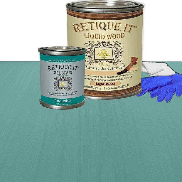 Liquid Wood Kit - Turquoise - Crystaline Your Life