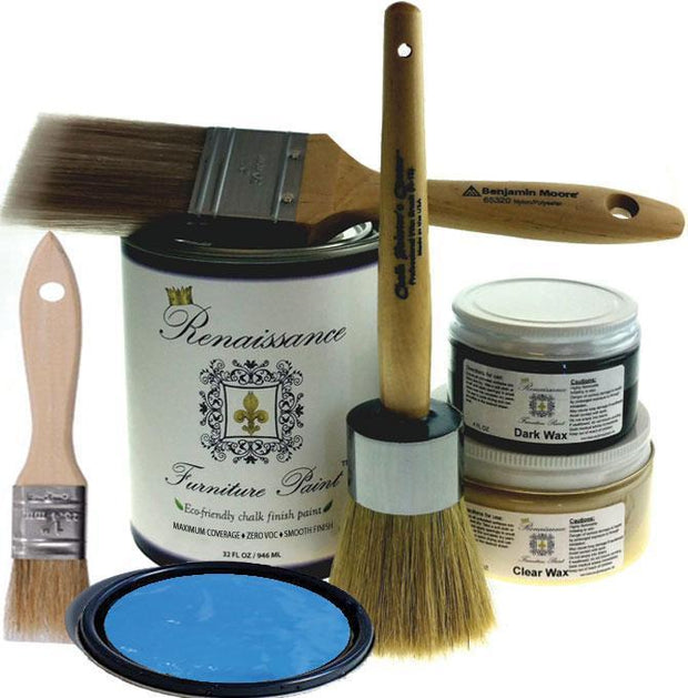 Renaissance Furniture Paint - Chalk Finish Paint - Egyptian Blue - Crystaline Your Life
