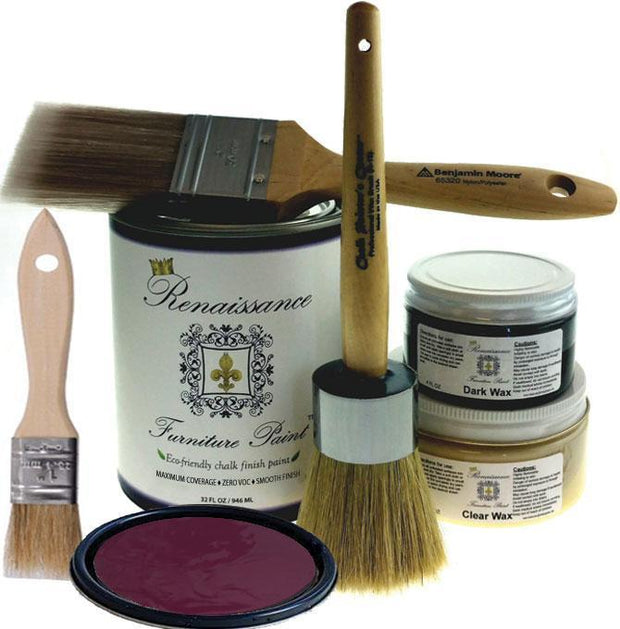 Renaissance Furniture Paint - Chalk Finish Paint - Plum - Crystaline Your Life