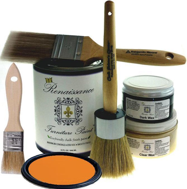 Renaissance Furniture Paint - Chalk Finish Paint - Pumpkin - Crystaline Your Life