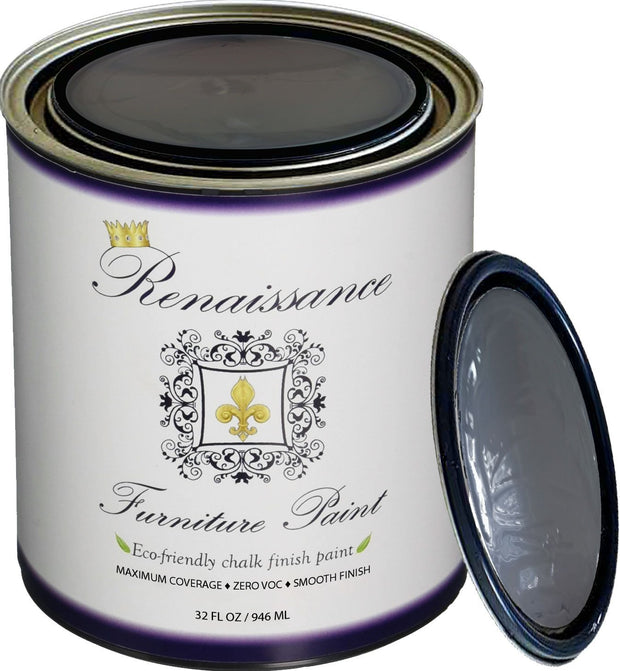 Renaissance Furniture Paint - Chalk Finish Paint - Greystone - Crystaline Your Life