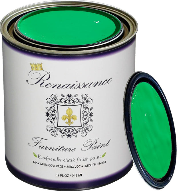 Renaissance Furniture Paint - Chalk Finish Paint - Jade - Crystaline Your Life
