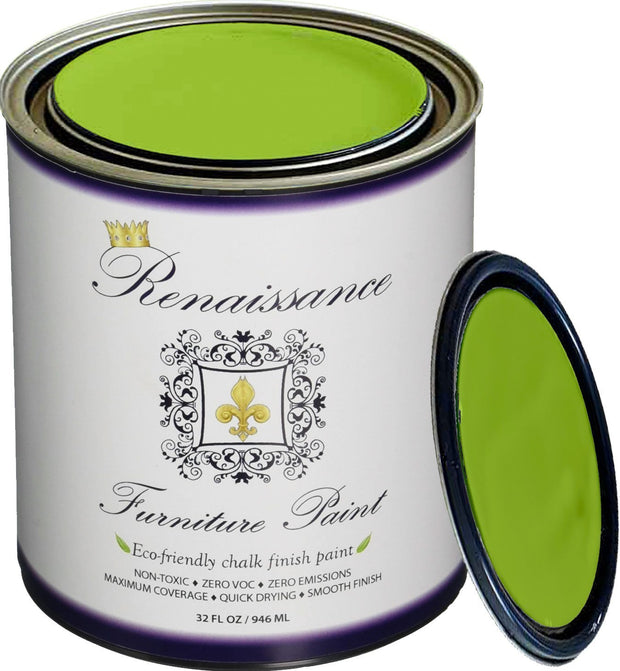 Renaissance Furniture Paint - Chalk Finish Paint - Mystic Moss - Crystaline Your Life