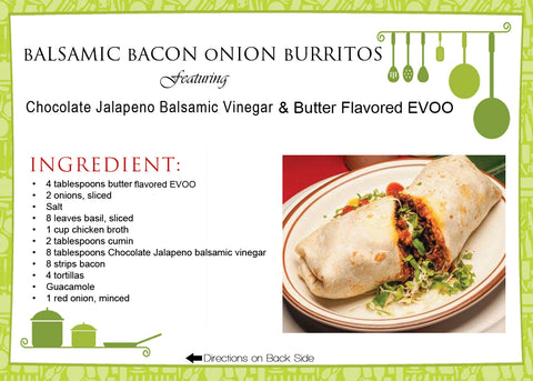 Balsamic Bacon Onion Burritos Recipe
