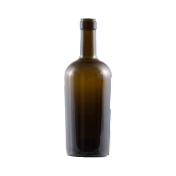 Bottle - 12/500ml Bordeaux Regine Antique Green Glass - Cibaria Store Supply