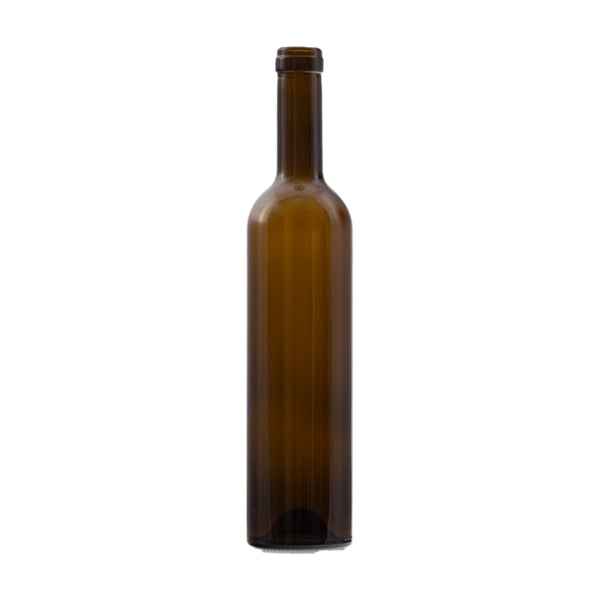 Bottle - 12/500ml Bordeaux Antique Green Glass - Cibaria Store Supply