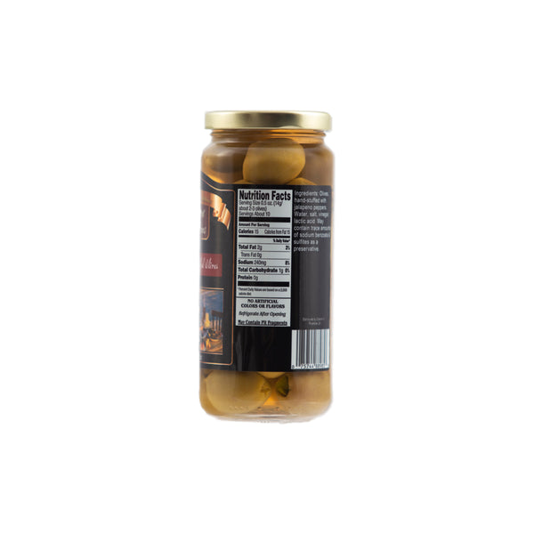 Stuffed Olives - Jalapeno 12/16oz. - Cibaria Store Supply