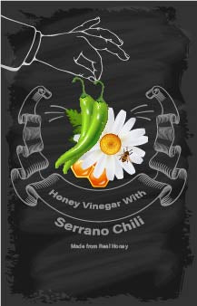 Vinegar - Honey Vinegar with Serrano Chili