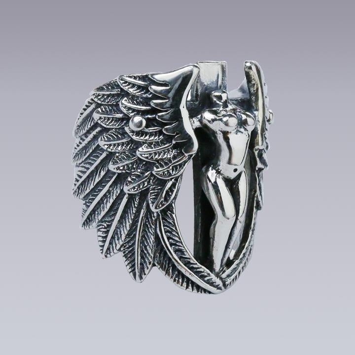 PURE SILVER ANGEL RING - Clotechnow