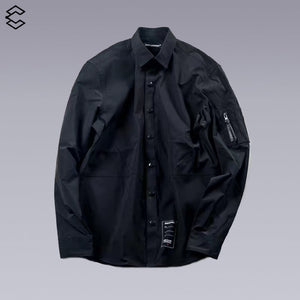 enshadower techwear long sleeve shirt, water-repellent/windproof. and high-quality fabric - CLOTECHNOW