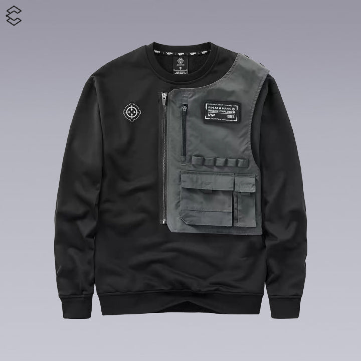 X-11 FUTURISTIC TECHWEAR SWEATER -TECHWEAR SHOP - Clotechnow