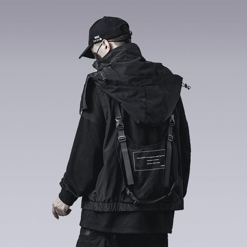 HOODED FUNCTIONAL TECHWEAR VEST - Clotechnow