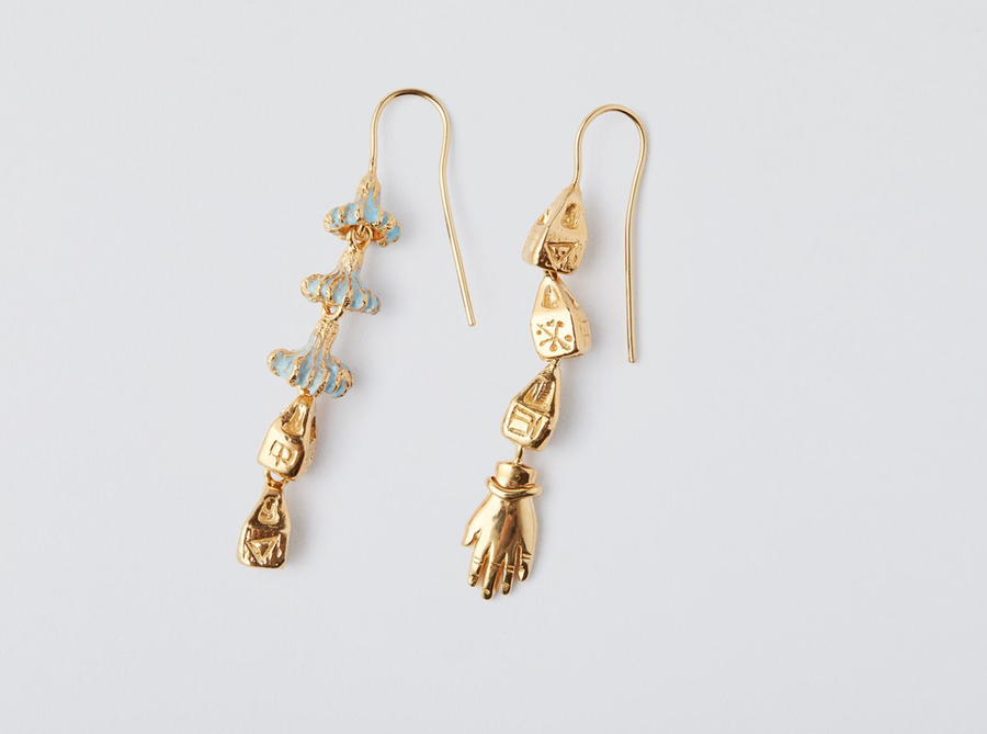Lucy Folk Tetouan Drop Earrings