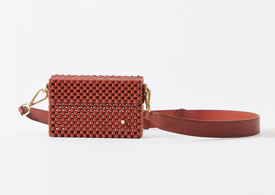 Lucy Folk Spice Cocktail Clutch - Brown