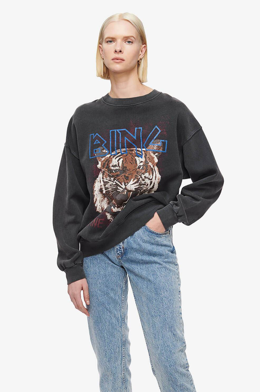 Anine Bing Tiger Sweatshirt - Black