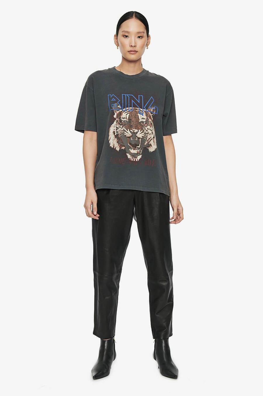 Anine Bing Tiger Tee - Black
