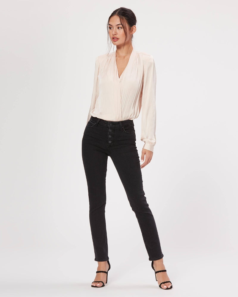 PAIGE Hoxton Slim Exposed Button Fly - Starlit