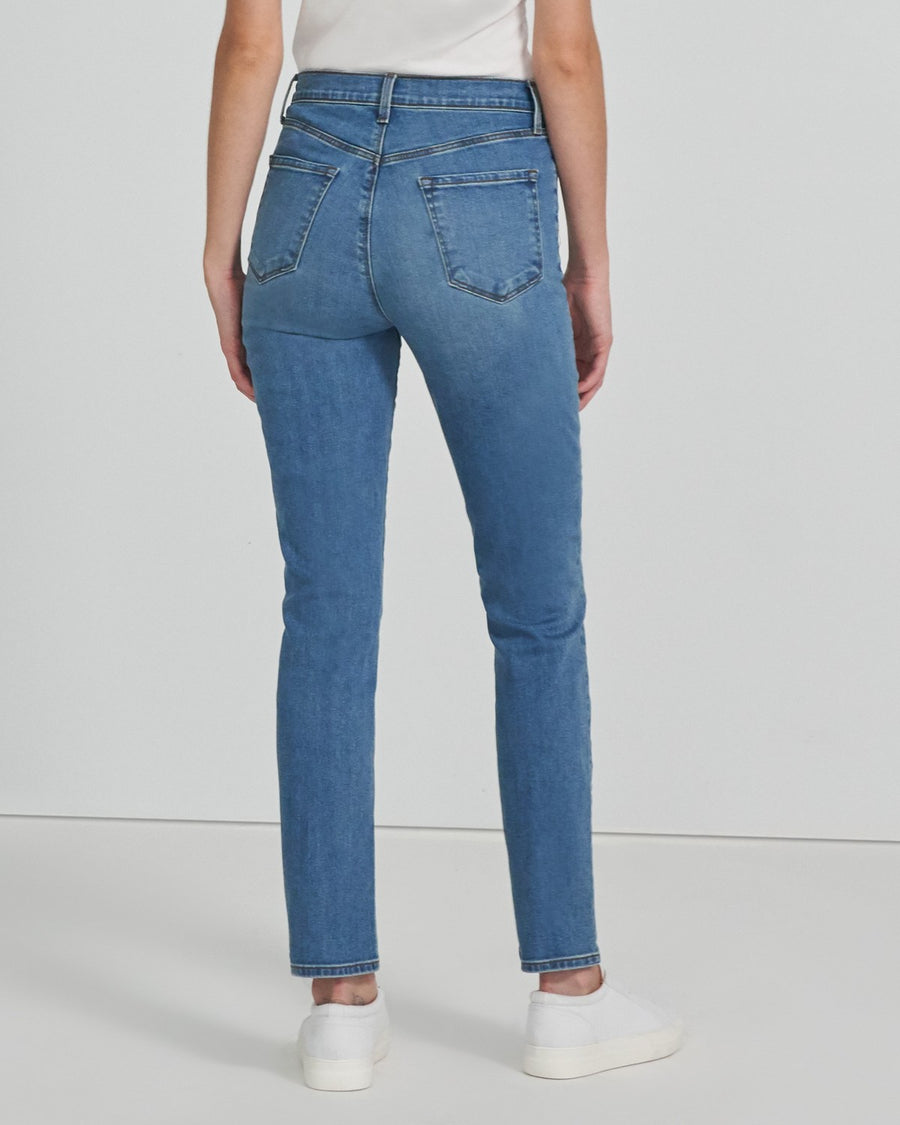 J Brand Teagan High Rise Straight - Uncharted