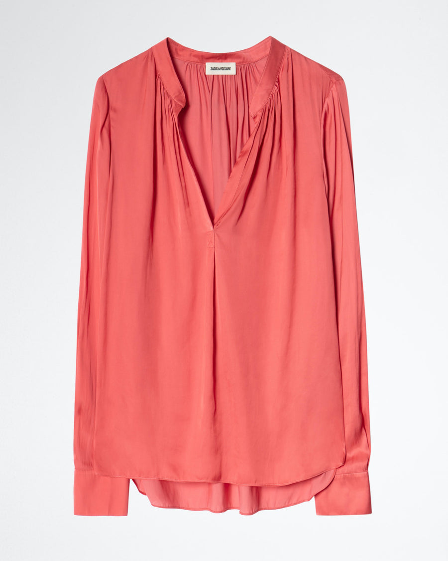 Zadig et Voltaire Tink Satin Tunic Coral