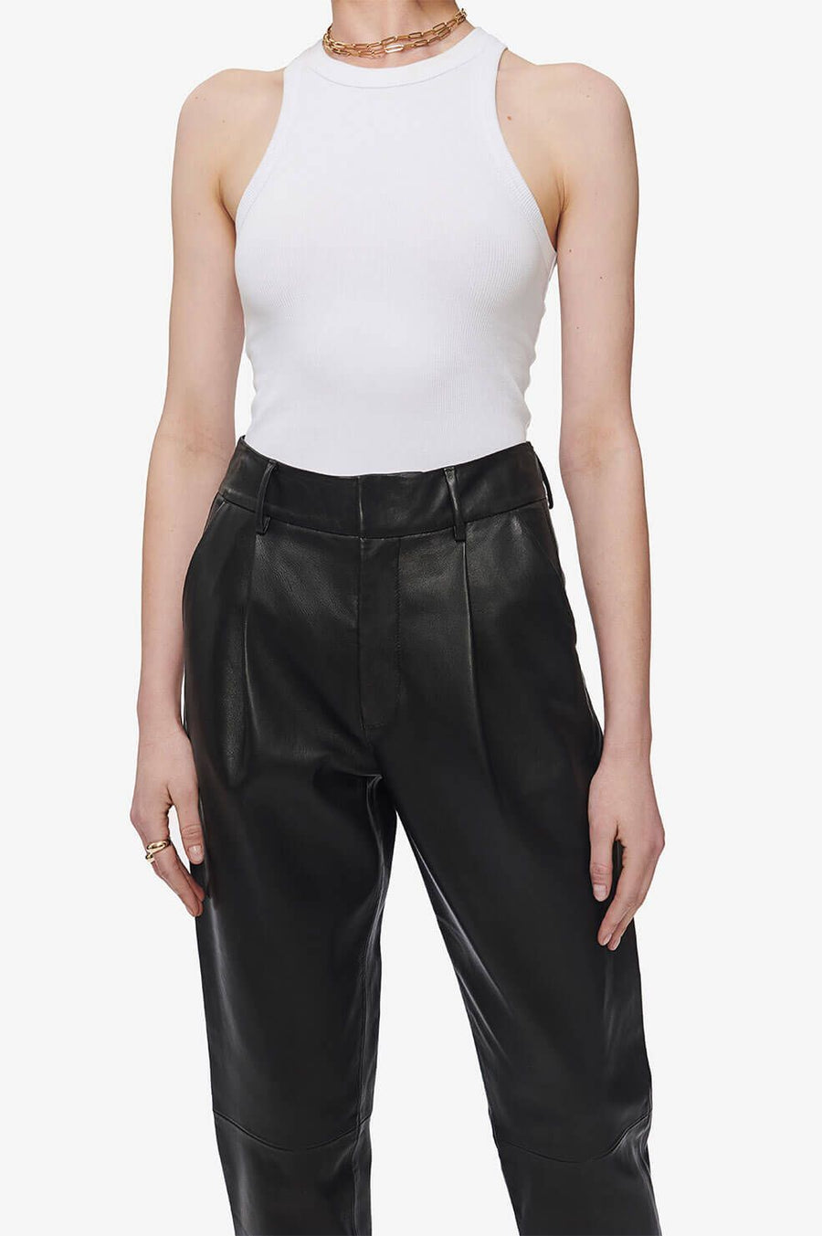 Anine Bing Becky Leather Trousers