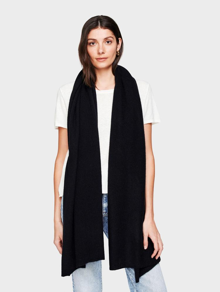 White + Warren Travel Wrap - Black