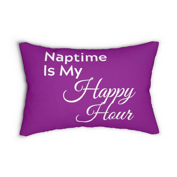 Naptime Is My Happy Hour Lumbar Pillow
