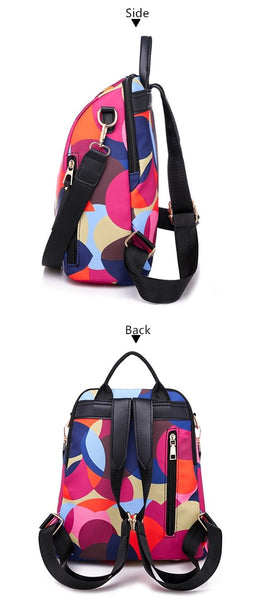 Colorful Circle Women Backpacks  Large Capacity Multi-pocket Fashion Bags  KAMO