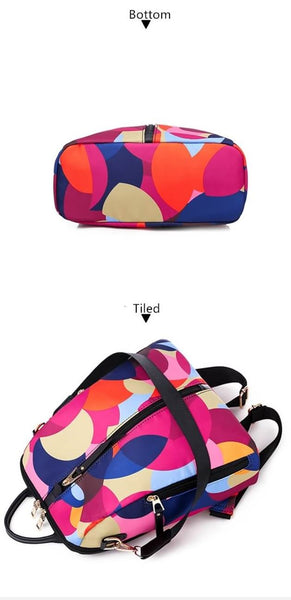 Colorful Circle Women Backpacks | Large Capacity Multi-pocket Fashion Bags | KAMO