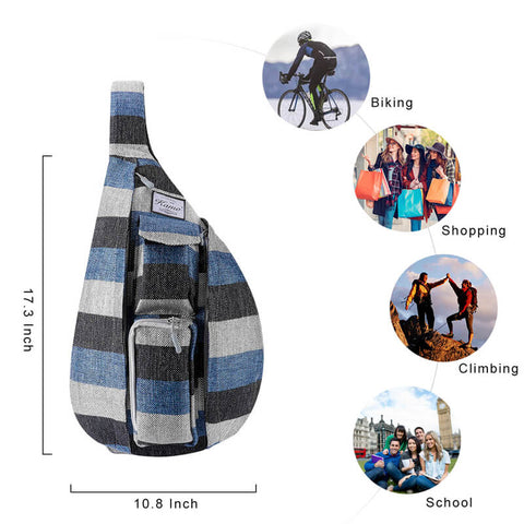 KAMO Chest Bag for Women | Hiking Rope Backpack | Affordable Bags