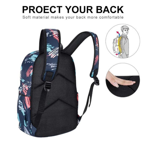 KAMO School Bag  Fashion Printed Backpack  Waterproof Travel Bag