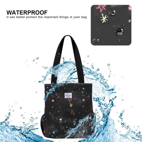 KAMO Shoulder Bag  Waterproof Lightweight Tote  Shopping, Beach Bag