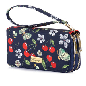 Casual Women Wallet | Kamo Flower Print Cartoon Wallet | Girl Purse - KAMO