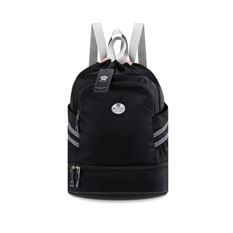 Drawstring Backpack Bag | Dry & Wet Separation Gym Bag | Sports Backpack with Shoe Compartment - KAMODEAL