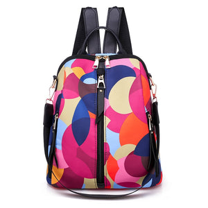 Colorful Circle Women Backpacks | Large Capacity Multi-pocket Fashion Bags | KAMO - KAMODEAL