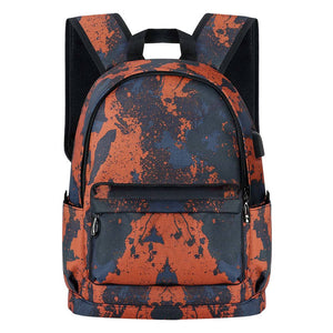 Kamo Polyester Backpack | USB interface Women Travel Bags | Fashion Girl School Bag - KAMODEAL