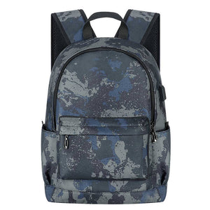 Kamo Polyester Backpack | USB interface Women Travel Bags | Fashion Girl School Bag - KAMO