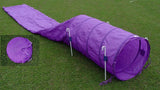 Collapsed Tunnel (Chute) with Stakes - Dog Agility USA