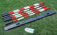 Set of 6 Weave Poles with Adjustable Spacing - Dog Agility USA