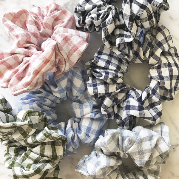Thick Gingham Scrunchie