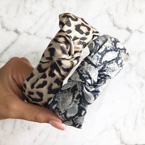 Animal Print Knotted Headbands