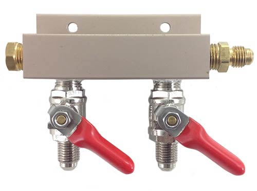 CO2 Distributor with MFL - 2 Way Outlet
